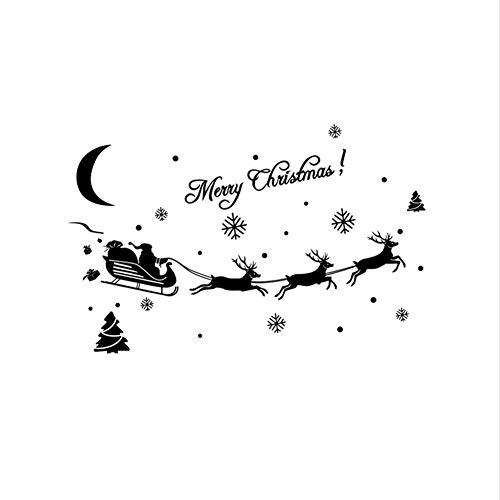 Yirenfeng Weihnachtsdekoration Aufkleber Fenster Aufkleber Wohnkultur Aufkleber Aufkleber Nagel Aufkleber Mond Stern Goldhalloween Aufkleber Niedlich