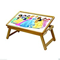 DFS's Trendy PRINCESS PRINT Multipurpose KIDS ACTIVITY FOLDABLE STUDY TABLE LAPTOP TABLE, BED BREAKFAST TRAY -- For Study / Reading / Eating / Craft-work (Trendy Princess Print)