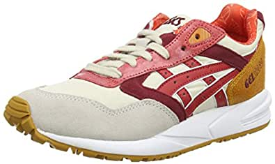 Asics Gelsaga, Damen Sneakers, Weiß (Off-White/Red 0223), 36 EU