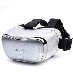 Omimo tous dans un vr casque 3d avec télécommande privé théâtre noir, 5 pouces hd 1920 * 1080 display, wifi bluetooth hdmi pour pc, xbox qp4 pour des films et des jeux (blanc)