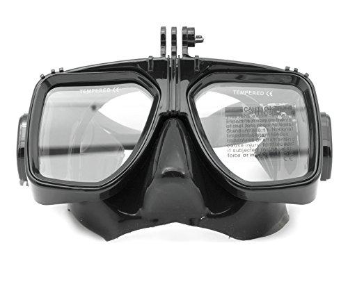QUMOX Schwimmen Scuba Dive Schnorcheln Tauchmaske Taucherbrille für Aktionssportkamera Helmkamera GoPro Hero 2/3/3 + / 4 SJ4000 SJ5000 SJ5000 SJcam + wifi FHD HD 1080p 720p - Meer-glas-fliese