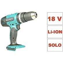 Makita BHP 453 - Atornillador eléctrico inalámbrico (18 V, sin acumulador, sin cargador, sin maletín, sólo la herramienta)
