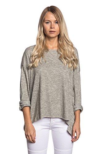 Abbino IG002 Shirts Tops - Made in Italy - Viele Farben - Übergang Frühling Sommer Herbst Feminin Flexibel Festlich Dynamisch Komfortabel T-Shirts Lässig Baumwolle Sexy Sale Elegant Khaki Grün (Art. 8262-3)