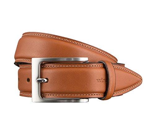 Windsor. Gürtel Herrengürtel Ledergürtel Cognac 3169, Farbe:Braun, Länge:85 cm