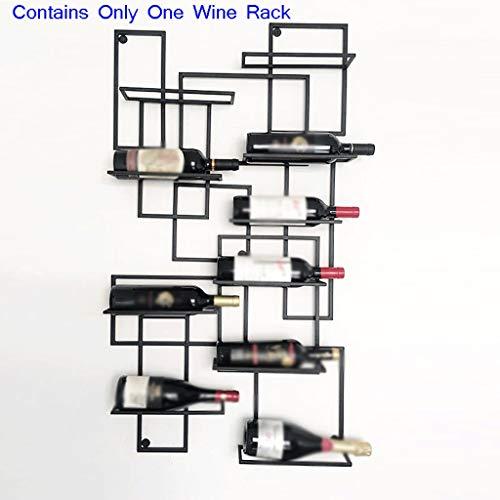 An der Wand befestigtes Metallgestell Display Rack Weinregal Weinregal Restaurant Wohnzimmer Gitter Wein Display (Color : Black, Größe : 110 * 60cm)