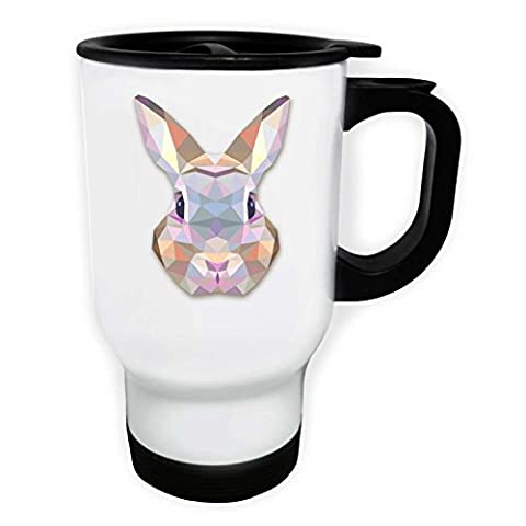 Origami Bunny Water Colours Novelty White Thermo Travel Mug 14oz o58tw