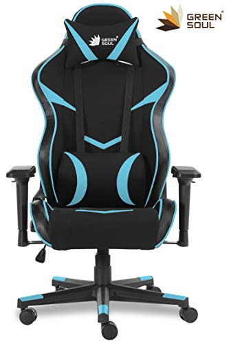 Green Soul Monster Series Fabric and PU Leather Gaming/Ergonomic Chair...