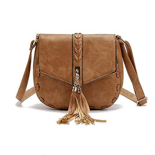 Simanli Designer-Handtaschen für Damen, Leder-Optik, Umhängetasche, für Damen, kleine Schultertasche für Frauen Gr. One size, camel - Hobo Leder-camel