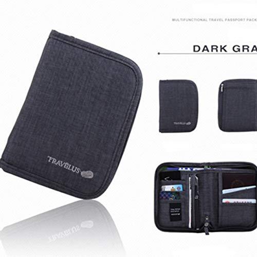 KinderALL Travel Guardian Premium Passhülle Hängende Kosmetiktaschen Mini-Erste-Hilfe-Kit Reise-Kulturbeutel Reisebrieftaschen-Organizer Lunchpaket Gray