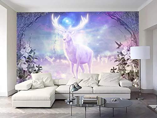 BHXINGMU Benutzerdefinierte Wandbilder Fototapeten Nostalgische Elche Großes Schlafzimmer Wohnzimmer Dekoration Aufkleber 320Cm(H)×450Cm(W)