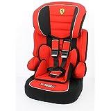 Ferrari Siège Auto Rehausseur Dossier avec Harnais Beline Sp Rouge Groupe 1/2/3 de 9 à 36 kg
