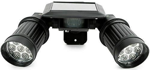 Solar Twin Sensor (Solar Motion Sensor Floodlight (Twin Head, 14 Bright LED Lights))