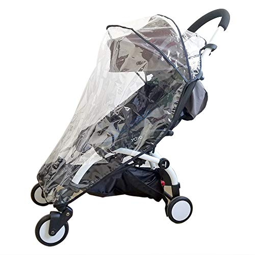 Protector de lluvia Pushchair Rain Cover Travel Weather Shield for Babyzen YOYO YOYO+ Strollers, Waterproof, Windproof, See Thru, Ventilation, Protection, Shade, Umbrella (2019 Upgraded Version)