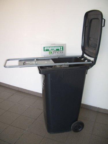 HAUSHALT - STAHLROHR - MÜLLPRESSE - ROBUSTE STABIELO MÜLLPRESSE für 120 Liter TONNEN - HOLLY PRODUKTE STABIELO - INNOVATIONEN MADE in GERMANY - holly-sunshade ® - NICHT ENTWICKELT ZUM PRESSEN von STARKEN PAPPEN oder ZEITUNGSSTAPELN - SONDERN für KOMPOSTIERFÄHIGEN HAUSMÜLL - RESTMÜLL