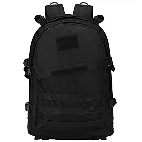 Bagerly Tactical Oxford Fabric Sport Backpack 40L Expandable Outdoor rucksack Military Camping Bag for Hiking Trekking