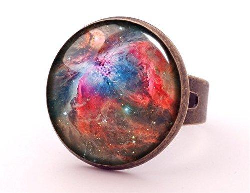 Nebula Space Kostüm - Nebel Ring, Cosmos Schmuck, Galaxy Space Ring, Ring, Solar System, Glas Cabochon Ring, verstellbar,