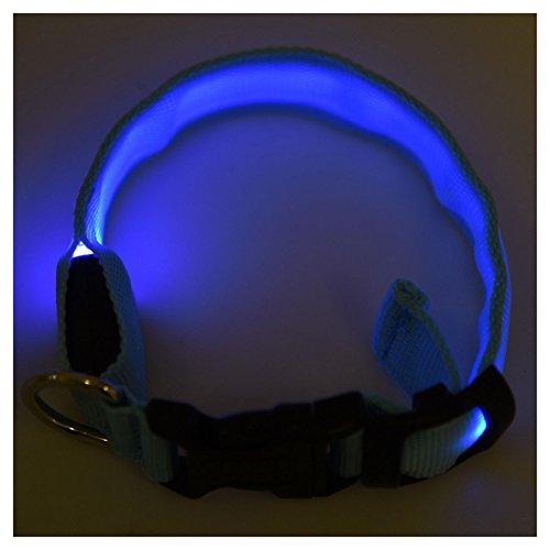 TOOGOO(R) LED Halsband Light – LED Leuchtschlauch Leuchthalsband Hundehalsband Hund Blau - 5