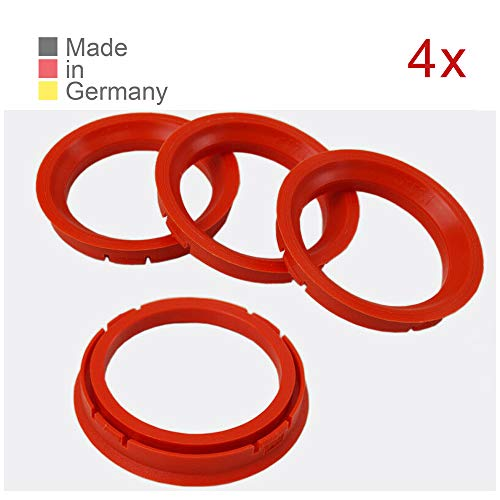 KONIKON 4X Zentrierringe 73,0 x 57,1 mm Rot Felgen Ringe Radnaben Zentrierring Adapterring Ring Felgenring Distanzring Made in Germany