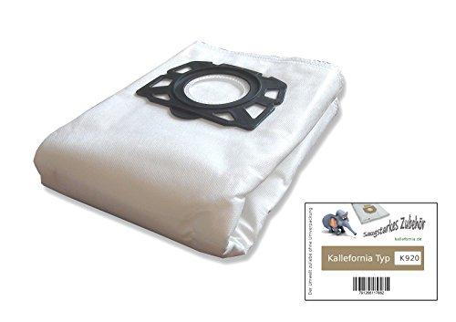 Kallefornia® Kallefornia K920–5bolsas de filtro para aspiradoras Kärcher WD Saco de 5bolsas de aspiradora Filtro