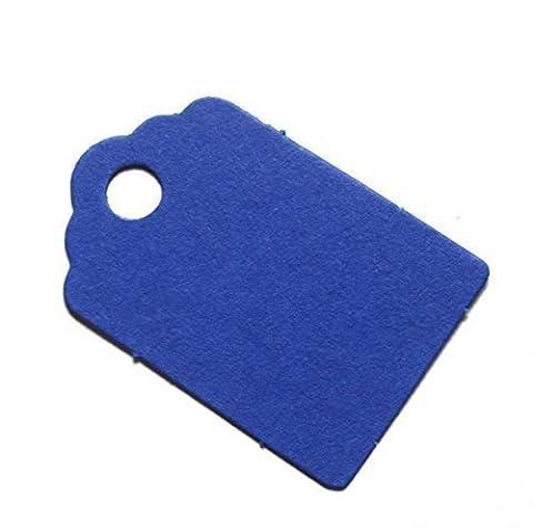 Petit cadeau 25étiquettes/tags/étiquettes de mariage bleu royal/bleu cobalt (Carte 100% recyclé) 42mm x 28mm–Fabriqué au Royaume-Uni