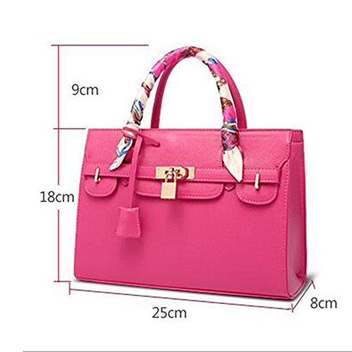 Damen Handtasche Schulter Messenger Bag Kreuzstich Platin Kreuz Paket 3