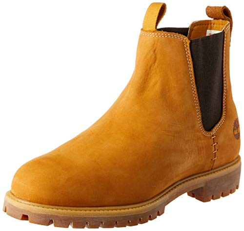 New Mens Timberland Tan 6` Premium Chelsea Nubuck Boots Elasticated Pull On