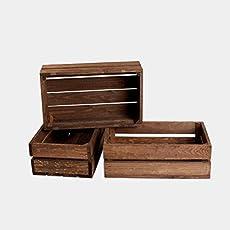 646c7dced Rebaja oferta lote set juego 3 cajas cajón caja cajones madera tono  envejecido.