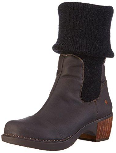 ArtZundert Wool Ankle Boot - Stivaletti donna , Nero (Black (Waxy Black)), 38