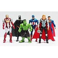 UK_gifty Marvel Avengers Batman Superman Hulk Superhero Action Figure Cake Topper All 6