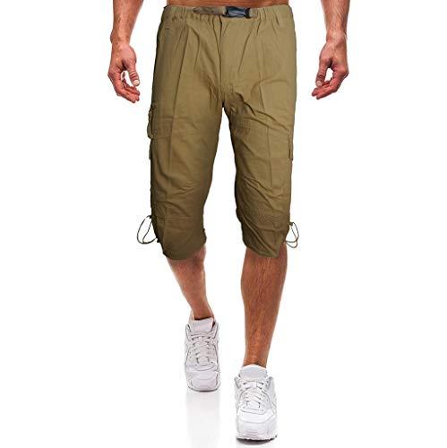 Prime day shorts,kurze Herren Hose Sommer beiläufige Hosen arbeiten die Kurzschlüsse der mittleren Aufstiegs-Männer um, die lose Mehrfachtaschenwerkzeughosen sind von Evansamp(Khaki,L) -