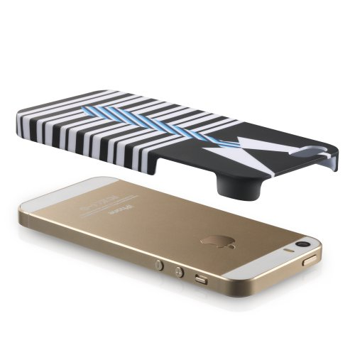 Fosmon MATT-FASHION Rubberized Case iPhone 5 / 5s / SE - Painter (1 piece cover) Semi-Formal