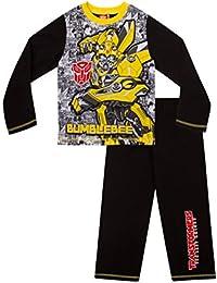 ThePyjamaFactory Boy's Pyjamas Transformers Bumblebee Pyjamas