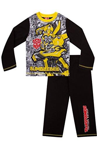 gen Schlafanzug schwarz schwarz Gr. 8-9 Jahre, schwarz (Transformers Bumblebee Schlafanzug)