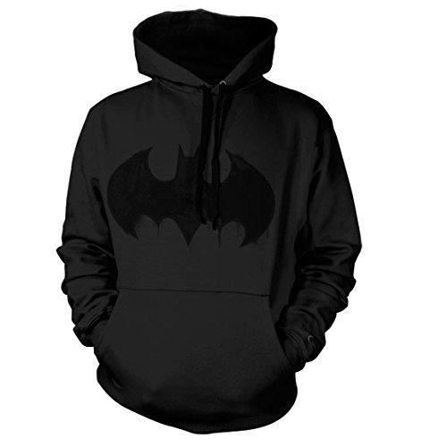 - Dark Knight Herren Schwarz Batman Hoodie