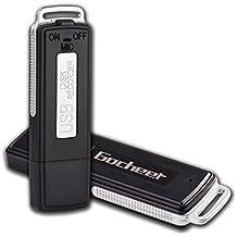Gocheer Portatile Mini 8GB/150 ore USB Registratore Digitale Vocale Audio Spia Cimice Voice Recorder Pendrive Compatibile con Windows 2000/XP/Vista/7/8, Mac