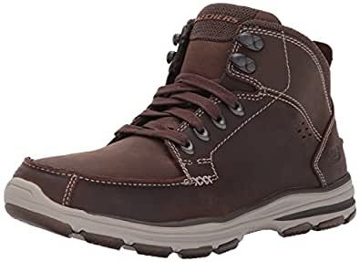 Skechers Men's Garton-Dodson Boots, Brown (Chocolate), 5.5 UK 39 EU