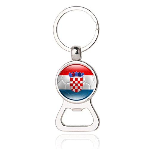 alflaggen Länder Hand Held Flaggen Schlüsselanhänger Flaschenöffner Party Club Bar Dekorationen Festival Celebration 15# Kroatien ()