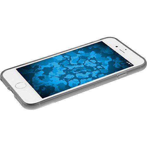 PhoneNatic Case für Apple iPhone 8 Hülle Silikon schwarz X-Style Cover iPhone 8 Tasche + 2 Schutzfolien Grau