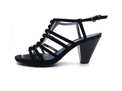 Marco Tozzi - Sandalette Beige oder Schwarz Schwarz