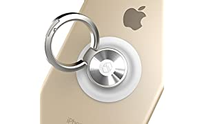 Sinjimoru Handy Ring Halter, Handyhalterung, Handy Ständer, Handy Halterung Finger, Magnet Handyhalter Auto, für alle iPhone und Android Smartphone. Ringo, Weiß.