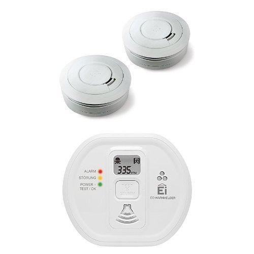 Ei Electronics Ei650 10-Jahres-Rauchwarnmelder, weiß, 2 Stück + Ei208D...