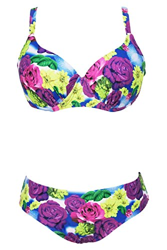 Pinkyee Damen Bikini-Set Pattern Color