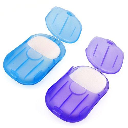 Smallwise Trading Mini Convenient Washing Hand Bath Travel Scented Slice Sheets Foaming Box Paper Soap
