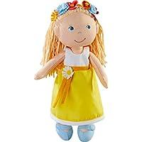 HABA 303664 - Puppe Wiebke | Weiche Stoffpuppe zum Spielen und Kuscheln mit Kleid zum An- und Ausziehen| Puppe aus hochwertigen, waschbaren Materialien | Ab 18 Monaten | Größe: 30 cm