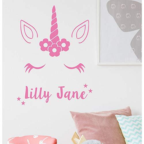 Yzybz Nette Wandaufkleber Personalisierte Name Kinder Schlafzimmer Benutzerdefinierte Kunst Mädchen Alle Namen Wandtattoo Vinyl Kunst Selbstklebend