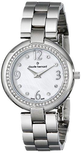 Claude Bernard Women's 20082 3 NAP Dress Code Quartz Analog Display Swiss Quartz Silver Watch