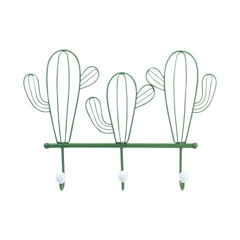 Art Deco Home - Percha Pared Metal Cactus 40 cm -