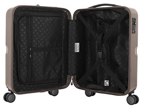 HAUPTSTADTKOFFER - Havel - 2er Koffer-Set (Handgepäck mit Laptop-Fach und Großer Reisekoffer) Trolley-Set Rollkoffer Hartschalenkoffer, TSA, (S & L), Gold - 4