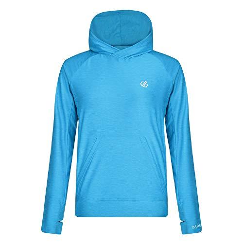 Dare 2b Damen Sprint City Lightweight Quick Drying Kangaroo Pocket Active Hoodie Pullover, blau(Blau - Blue Jewel),36 Damen Lightweight Hoodie