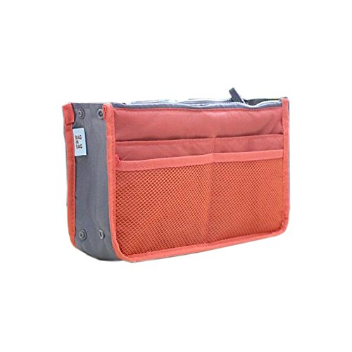 Make-Up-Organisator-Beutel-Perfector Insert Travel Organizer Zipper-Halter-Handtasche Orange